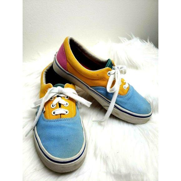 Vans Era Bright Color Blocked Skate Shoes   Vans, Vans